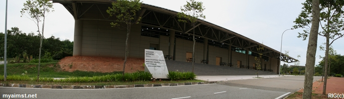 A view from the side of the complex.