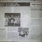 New Straits Times : Moments of Glory for AIMST Students