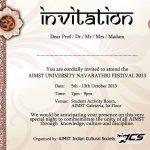 4th annual AIMST Navarathiri festival celebration 2013