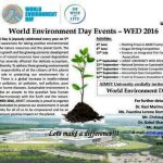 AIMST University World Environment Day (WED 2016) Event Brochure
