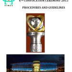 AIMST University 6th Convocation Ceremony Guidelines 2013