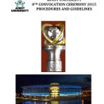 AIMST University 8th Convocation Ceremony Guidelines 2015