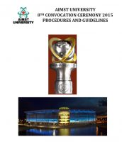 aimst-university-8th-convocation-procedures-and-guidelines-2015